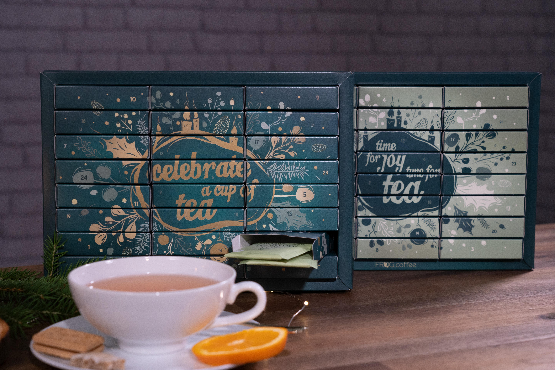 FROG.coffee Tee-Adventskalender mit Beuteltee verschiendener Marken