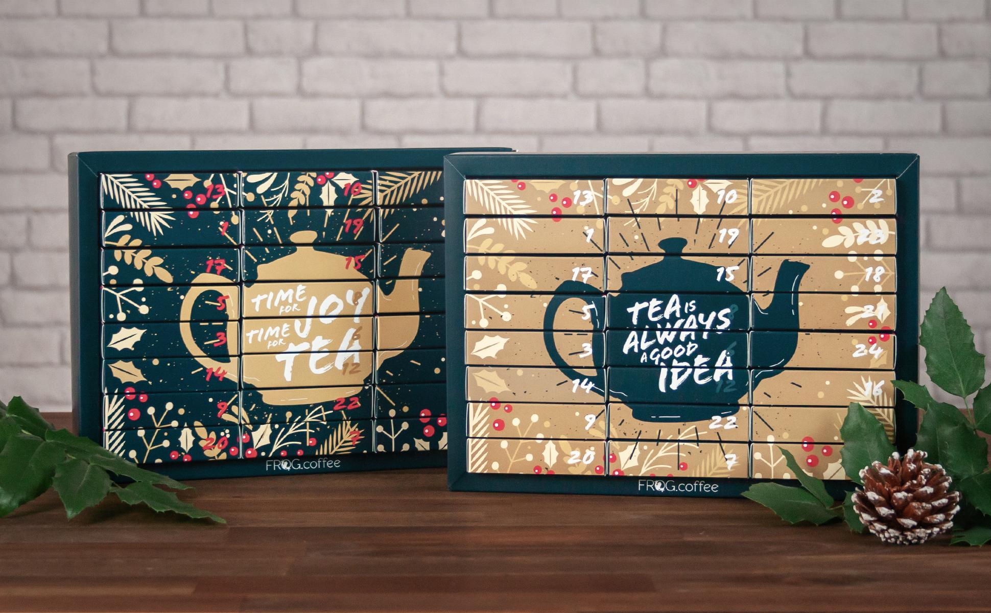 FROG.coffee Tee-Adventskalender mit Wechselcover